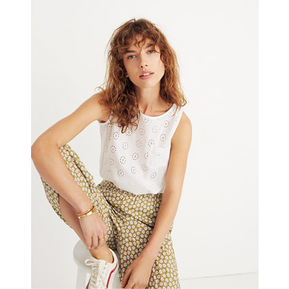 Eyelet Bubble Top by Madewell