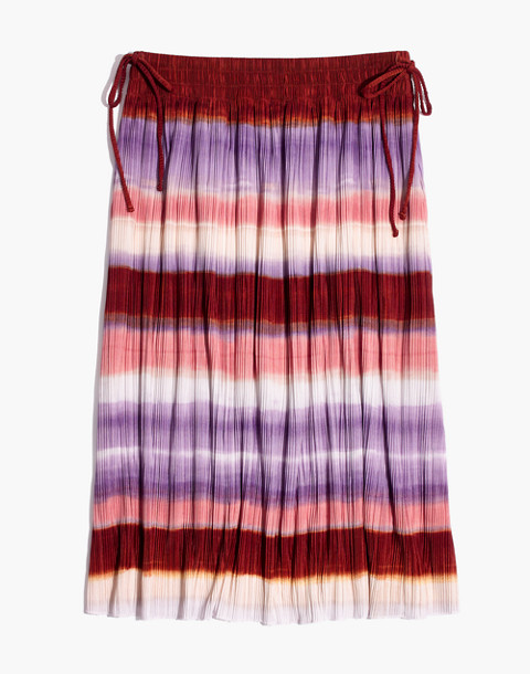 Texture & Thread Micropleat Midi Skirt in Ombré Rainbow in clementine cream image 4
