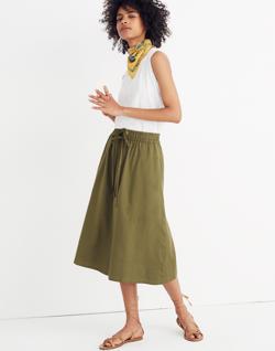 Drawstring Circle Skirt