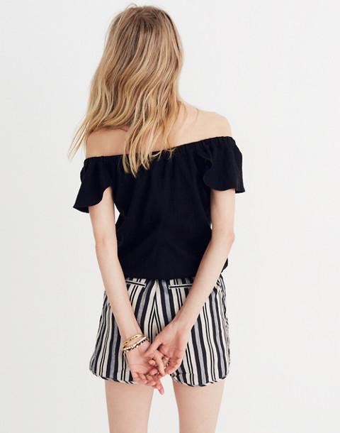 Texture & Thread Off-the-Shoulder Top in true black image 3