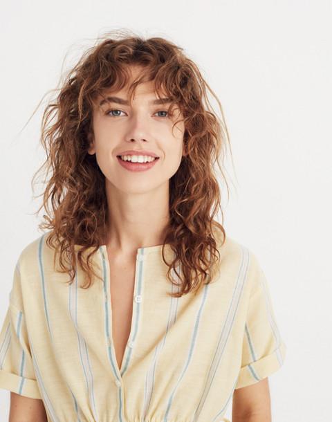 Drawstring-Waist Shirt in Atlantic Stripe in light straw image 2