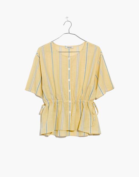 Drawstring-Waist Shirt in Atlantic Stripe in light straw image 4