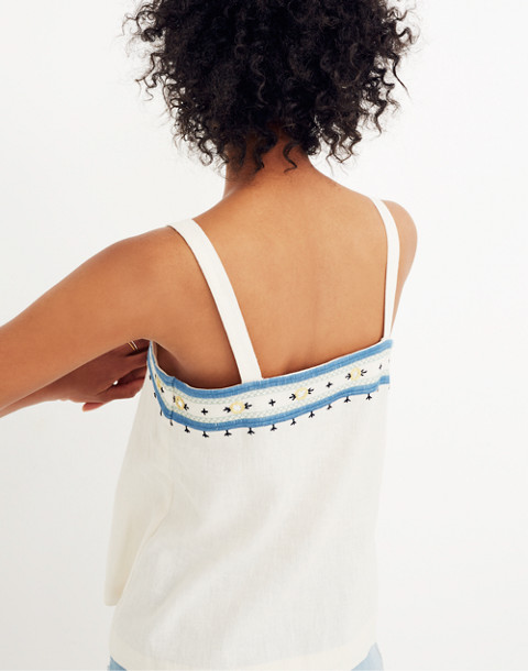 Mirror-Embroidered Tank Top