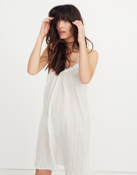 Tulum Cover-Up Dress in Stripe in sea glass image 2