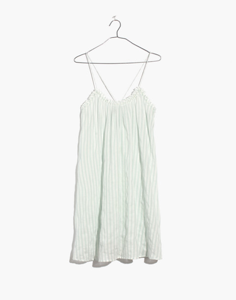 Tulum Cover-Up Dress in Stripe in sea glass image 3
