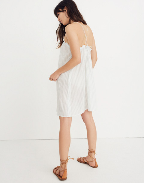 Tulum Cover-Up Dress in Stripe in sea glass image 1