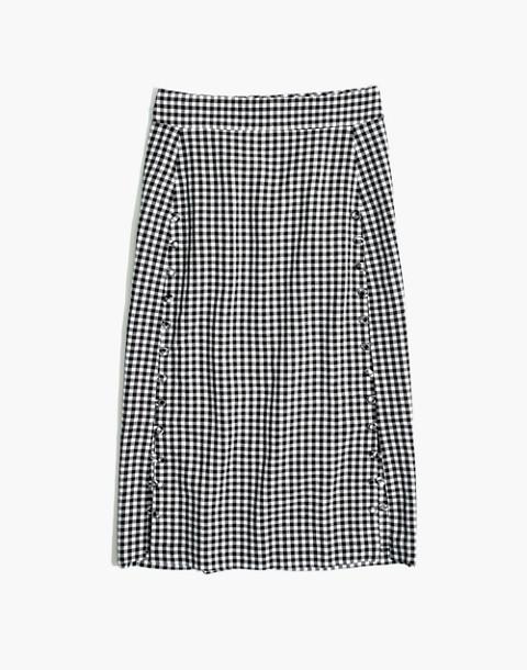 Gingham Pencil Skirt in true black image 4