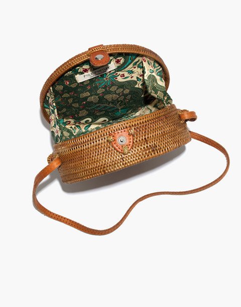 Folk Fortune Bali Rattan Roundie Bag in rattan image 3