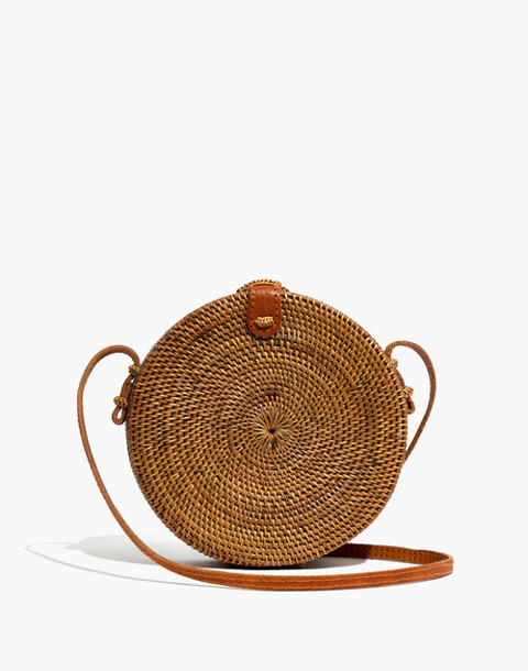 Folk Fortune Bali Rattan Roundie Bag in rattan image 1