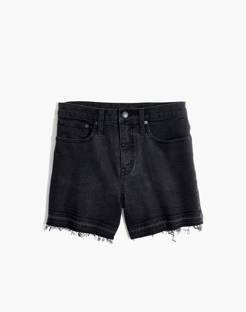 High-Rise Denim Shorts in Clint Wash: Drop-Hem Edition