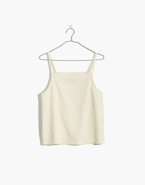 Texture & Thread Apron Tank Top in bright ivory image 1