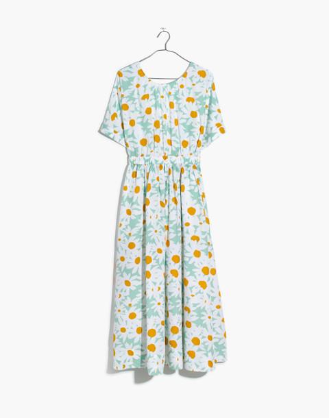 Tie-Back Maxi Dress in Mini Daisy