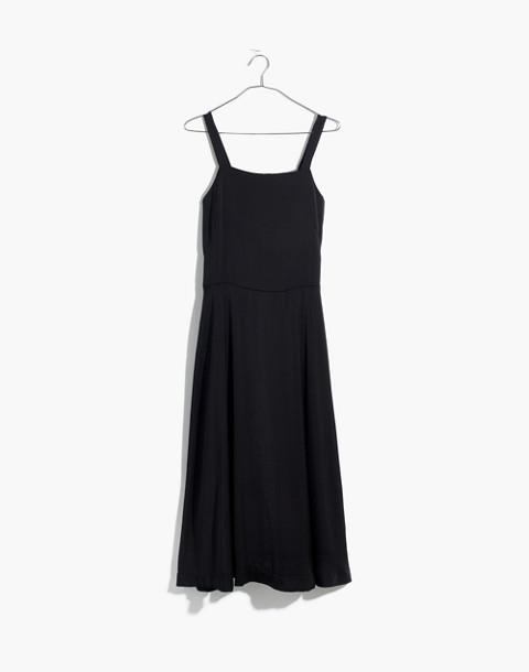 Cross-Back Midi Dress in true black image 4