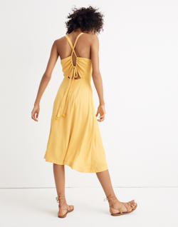 Cross-Back Midi Dress