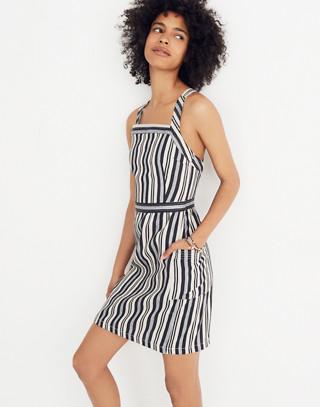 Apron Mini Dress in Evelyn Stripe