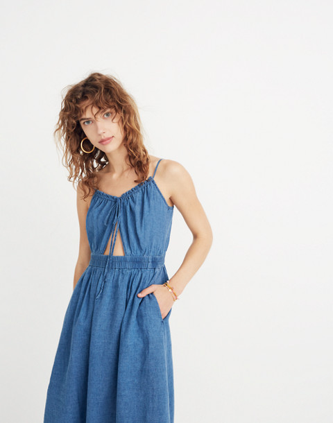 Indigo Cutout Cami Dress in alexandra wash image 2