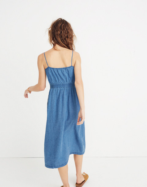 Indigo Cutout Cami Dress in alexandra wash image 3