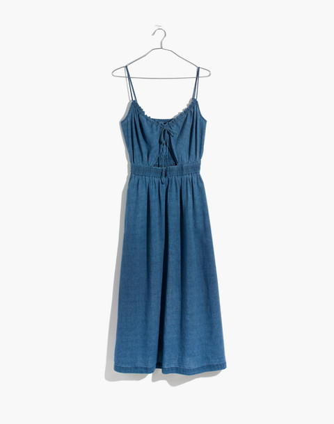Indigo Cutout Cami Dress in alexandra wash image 4