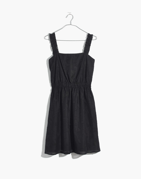 Jacquard Frill-Strap Mini Dress in true black image 4