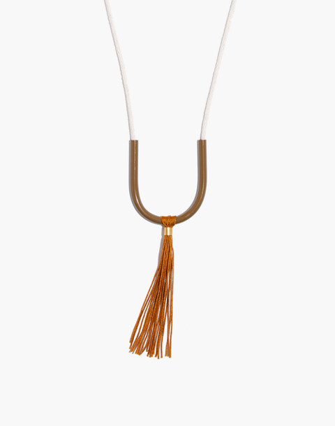 Madewell x Maslo™ Tassel Necklace in pink yellow image 1