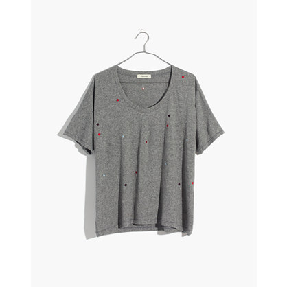 Embroidered U Neck Tee by Madewell
