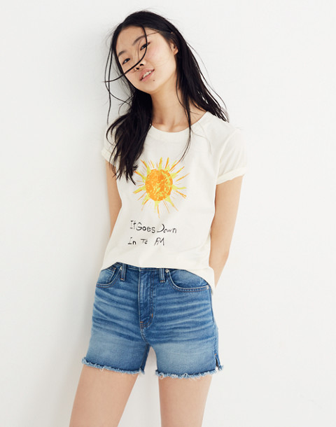 Madewell x Unfortunate Portrait™ It Goes Down in the PM Tee in eyelet white image 1