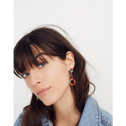Desert Sunset Circle Drop Earrings by Madewell