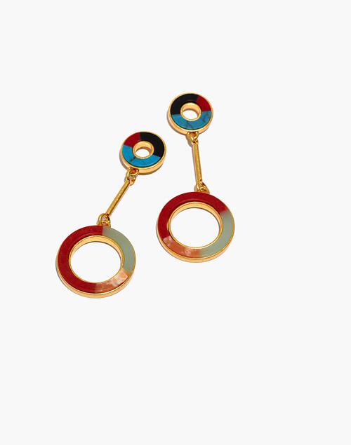 69d50bde2 Desert Sunset Circle Drop Earrings in vintage gold image 1