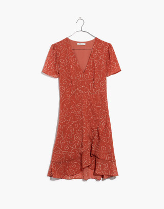 Posy Ruffle Dress in Twisted Vines