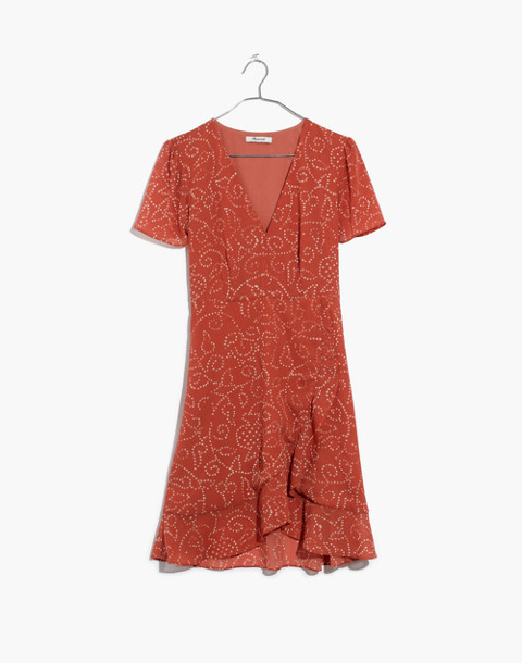 Posy Ruffle Dress in Twisted Vines in pomegranate spiced rose image 4