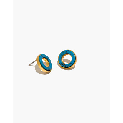 Desert Sunset Circle Stud Earrings by Madewell