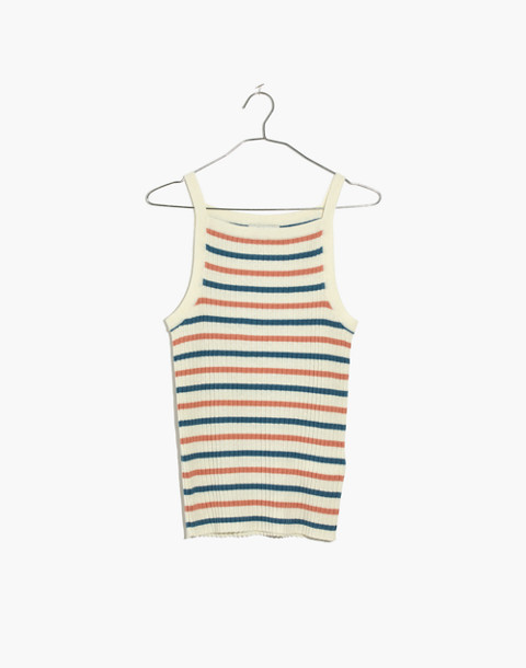 Apron Sweater Tank in Stripe in hthr carbon image 4
