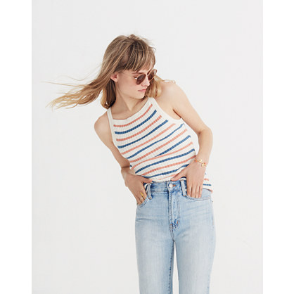 Apron Sweater Tank In Stripe by Madewell