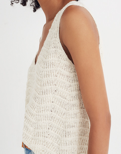 Crocheted Sweater Tank in vintage eggshell image 2