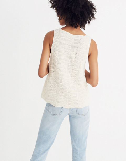 Crocheted Sweater Tank in vintage eggshell image 3