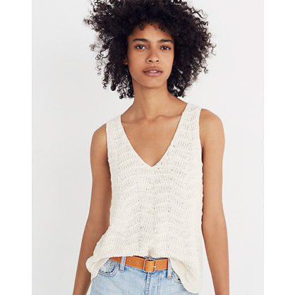 Crocheted Sweater Tank by Madewell