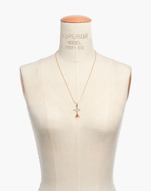 Desert Sunset Pendant Necklace in vintage gold image 3