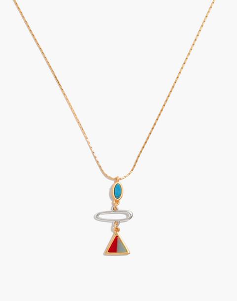 Desert Sunset Pendant Necklace in vintage gold image 1