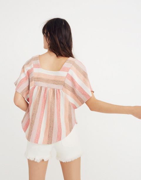 Texture & Thread Butterfly Top in Sherbet Stripe