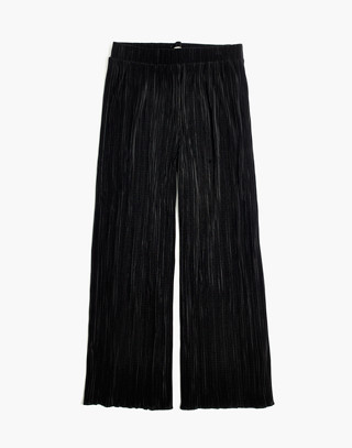 Texture & Thread Micropleat Wide-Leg Pants