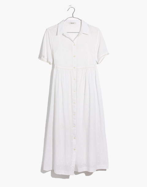 Clipdot Midi Shirtdress in eyelet white image 4