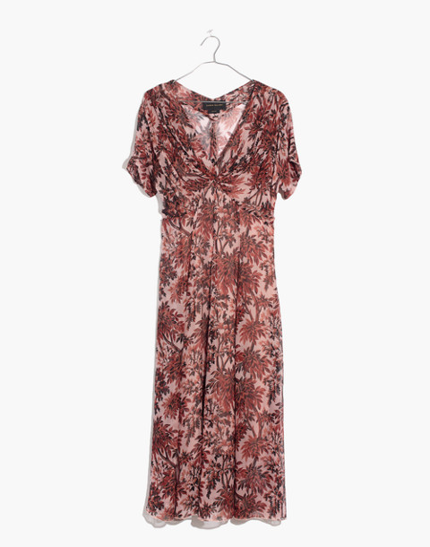 Karen Walker® Silk Romanticism Print Dress in red multi image 1