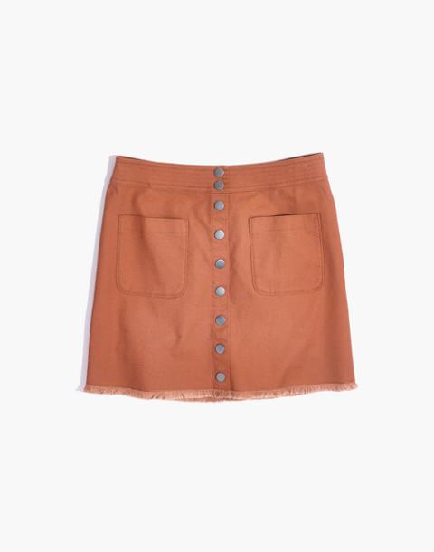 High-Waist Snap Skirt in burnt sienna image 4