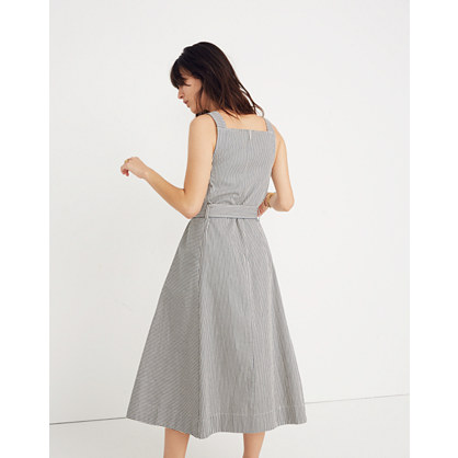 Apron Tie Waist Dress In Stripe by Madewell