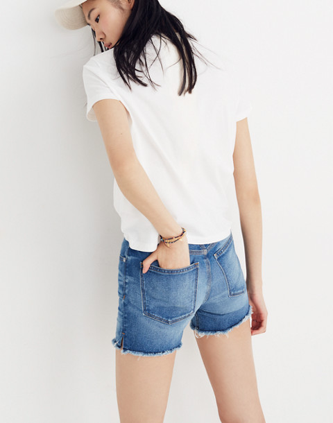 Madewell Radio Boxy Tee in white wash image 3