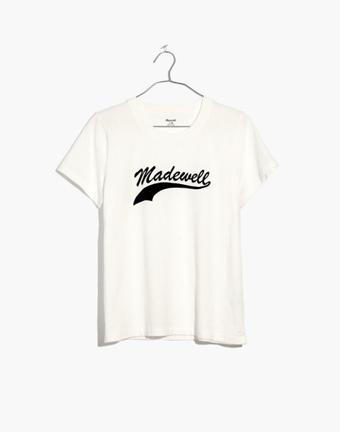 Madewell Radio Boxy Tee in white wash image 4