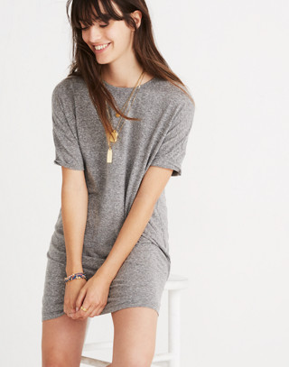 Oversized Tee Dress in hthr grey image 2