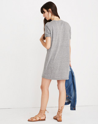 Oversized Tee Dress in hthr grey image 3