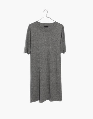 Oversized Tee Dress in hthr grey image 4