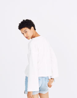 Bell-Sleeve Sweatshirt